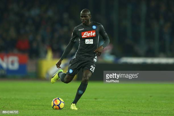 Kalidou Koulibaly of Napoli during the Serie A match between SSC Napoli and Juventus at Stadio San Paolo on December 1 2017 in Naples Italy