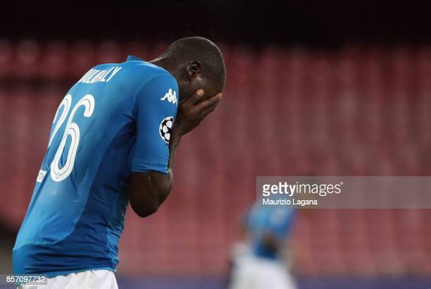 Kalidou Koulibaly of Napoli during the UEFA Champions League group F match between SSC Napoli and Feyenoord at Stadio San Paolo on September 26 2017...