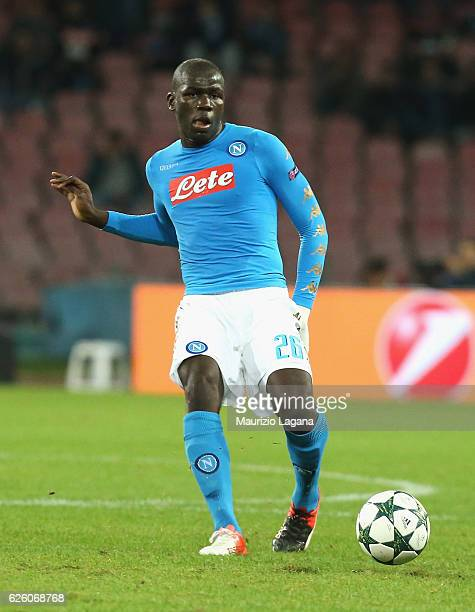 Kalidou Koulibaly of Napoli during the UEFA Champions League match between SSC Napoli and FC Dynamo Kyiv at Stadio San Paolo on November 23 2016 in...