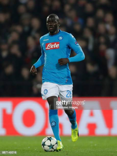 Kalidou Koulibaly of Napoli during the UEFA Champions League match between Feyenoord v Napoli at the Feyenoord Stadium on December 6 2017 in...