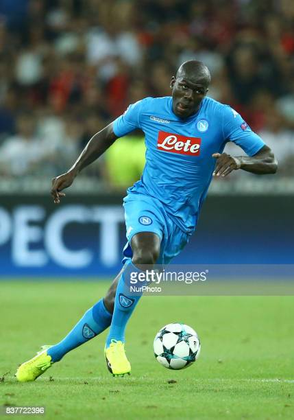 Kalidou Koulibaly of Napoli during the UEFA Champions League Qualifying PlayOffs round second leg match between OGC Nice and SSC Napoli at Allianz...