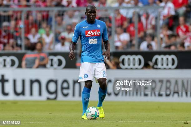 Kalidou Koulibaly of Neapel controls the ball during the Audi Cup 2017 match between SSC Napoli and FC Bayern Muenchen at Allianz Arena on August 2...