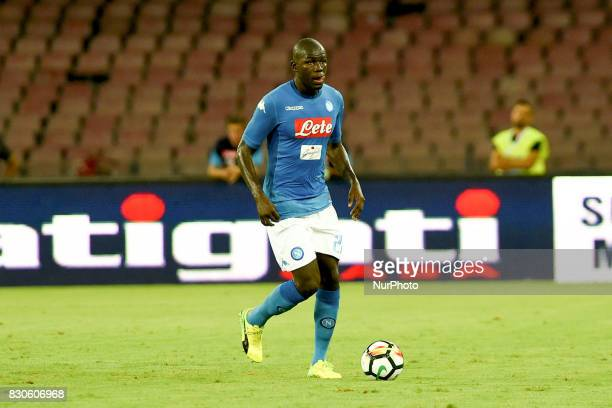 Kalidou Koulibaly of SSC Napoli during the Preseason Frendly match between SSC Napoli and RCD Espanyol at Stadio San Paolo Naples Italy on 10 August...