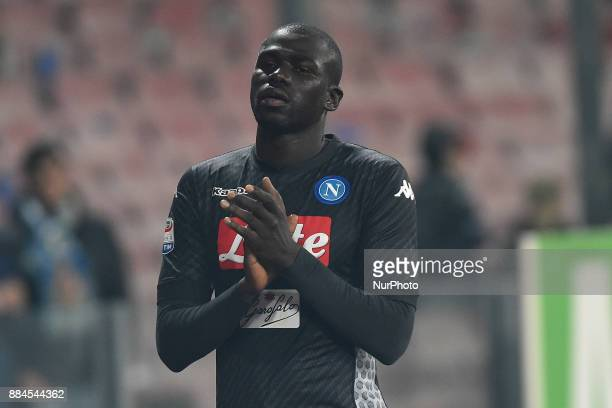 Kalidou Koulibaly of SSC Napoli during the Serie A TIM match between SSC Napoli and Juventus FC at Stadio San Paolo Naples Italy on 1 December 2017