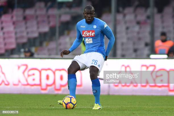 Kalidou Koulibaly of SSC Napoli during the Serie A TIM match between SSC Napoli and ACF Fiorentina at Stadio San Paolo Naples Italy on 10 December...