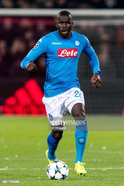 Kalidou Koulibaly of SSC Napoli during the UEFA Champions League group F match between Feyenoord Rotterdam and SSC Napoli at the Kuip on December 06...