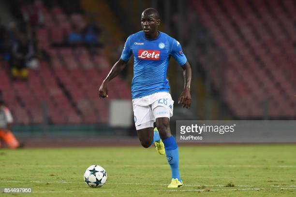 Kalidou Koulibaly of SSC Napoli during the UEFA Champions League Final match between SSC Napoli and Feyenoord at Stadio San Paolo Naples Italy on 27...