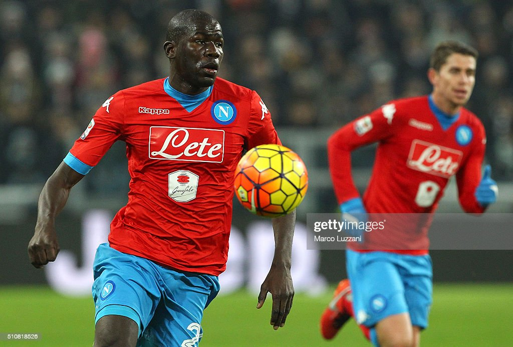 <a gi-track='captionPersonalityLinkClicked' href=/galleries/search?phrase=Kalidou+Koulibaly&family=editorial&specificpeople=7815250 ng-click='$event.stopPropagation()'>Kalidou Koulibaly</a> of SSC Napoli in action during the Serie A match between and Juventus FC and SSC Napoli at Juventus Arena on February 13, 2016 in Turin, Italy.