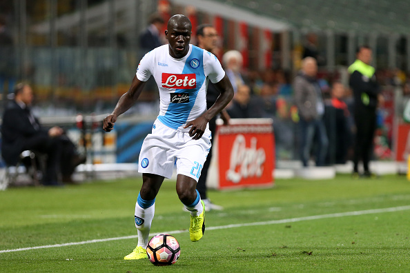 Kalidou Koulibaly of Ssc Napoli in action during the Serie A... : News Photo