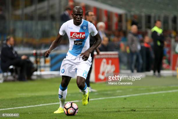 Kalidou Koulibaly of Ssc Napoli in action during the Serie A match between FC Internazionale and Ssc Napoli Ssc Napoli wins 1 0 over Internazionale Fc