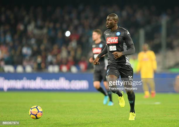Kalidou Koulibaly of SSC Napoli in action during the Serie A match between SSC Napoli and Juventus at Stadio San Paolo on December 1 2017 in Naples...