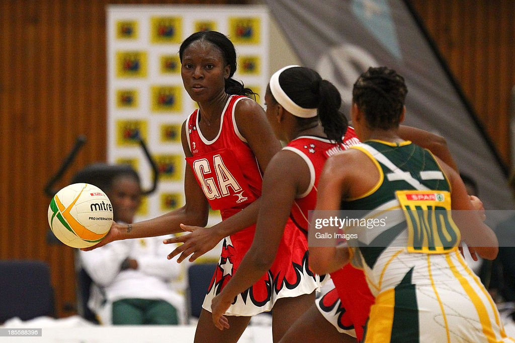 Kaliffa McCollin of Trinidad and Tobago in action during the International Tri Nations match between South Africa and Trinidad and Tobago at Vodacom NMMU Indoor Stadium on October 22, 2013 in Port Elizabeth, South Africa.