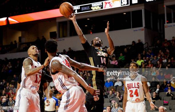 Kalin Lucas of the Erie BayHawks shoots the ball against the Windy City Bulls on March 28 2017 at the Sears Centre Arena in Hoffman Estates Illinois...