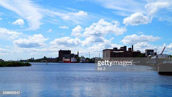 Kaliningrad. Pregolya fiume : Foto stock