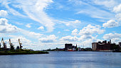 Russia, Kaliningrad. Pregolya River