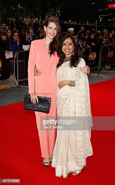 Kalki Koechlin and Shonali Bose attend the red carpet arrivals of 'Margarita With A Straw' during the 58th BFI London Film Festival at Vue Leicester...