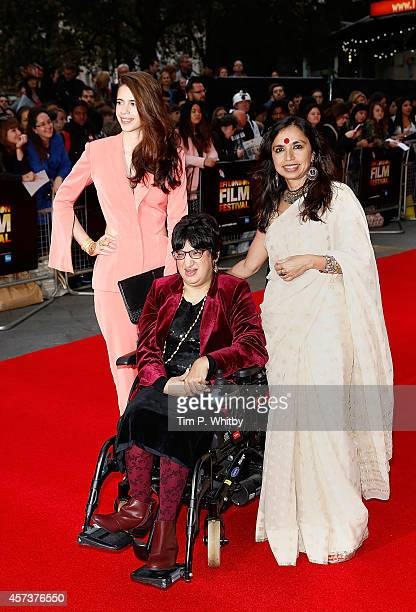 Kalki Koechlin Malini Chib and Shonali Bose attend the red carpet arrivals of 'Margarita With A Straw' during the 58th BFI London Film Festival at...