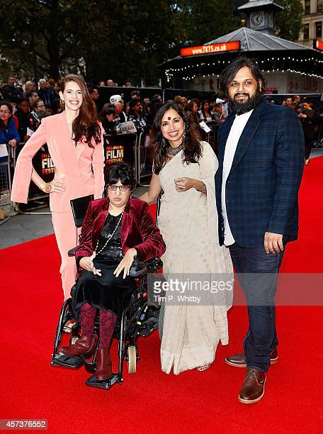 Kalki Koechlin Malini Chib Shonali Bose and Nilesh Maniyar attend the red carpet arrivals of 'Margarita With A Straw' during the 58th BFI London Film...