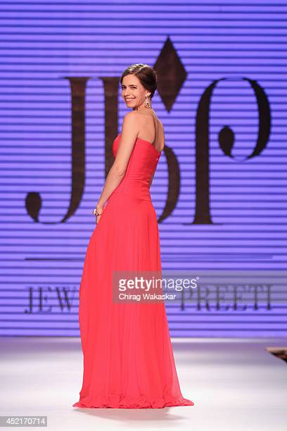 Kalki Koechlin walks the runway at Jewels by Preeti show during day 1 of the India International Jewellery Week 2014 at grand Hyatt on July 14 2014...