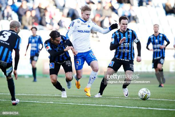 Kalle Holmberg during the Allsvenskan match between IFK Norrkoping and IF Sirius FK at Ostgotaporten on April 17 2017 in Norrkoping Sweden
