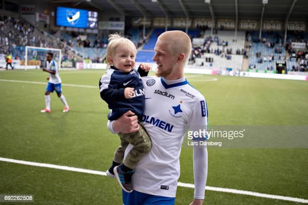 Kalle Holmberg of IFK Norrkoping after the Allsvenskan match between IFK Norrkoping and IFK Goteborg on June 4 2017 at Ostgotaporten in Norrkoping...