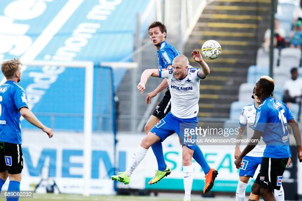 Kalle Holmberg of IFK Norrkoping during the Allsvenskan match between IFK Norrkoping and Halmstad BK at Ostgotaporten on May 27 2017 in Norrkoping...