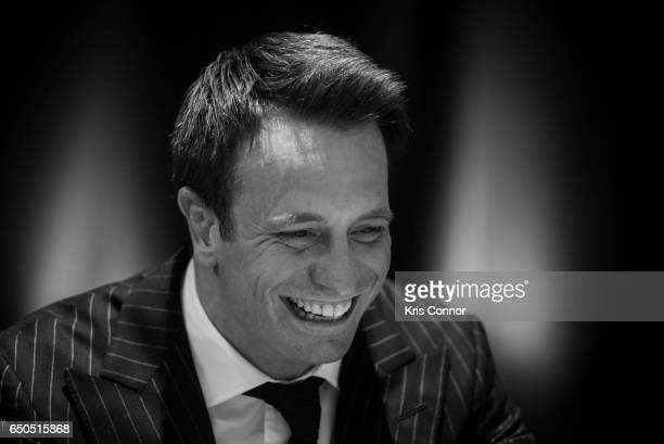 This image has been converted to blackwhite Kalle Sauerland Comosa's Chief Boxing Officer speaks during a press conference to announce the World...