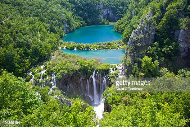 Kaluderovac Lake and falls, Plitvice NP, Croatia