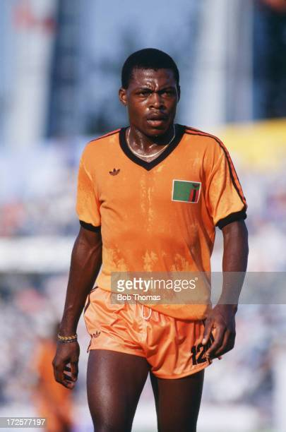 Kalusha Bwalya of Zambia on the pitch during the Zambia v Italy match during the 1988 Summer Olympics Gwangju Mudeung Stadium South Korea 19th...