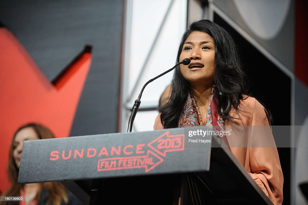 Kalyanee Mam accepts the Winner of the World Cinema Grand Jury Prize: Documentary for A River Changes Course onstage at the Awards Night Ceremony during the 2013 Sundance Film Festival at Basin Recreation Field House on January 26, 2013 in Park City, Utah.
