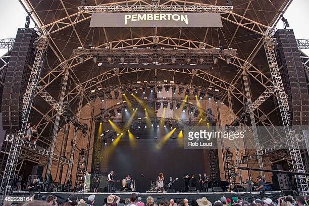 Kam Franklin of the Suffers performs at the Pemberton Music Festival on July 19 2015 in Pemberton Canada