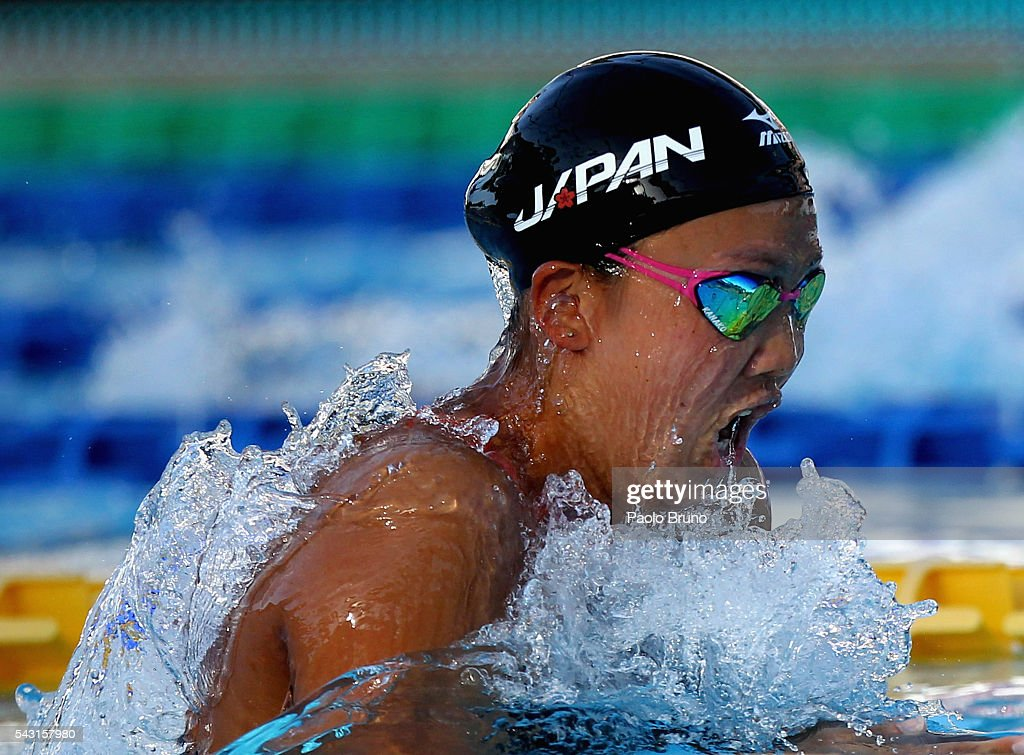 Kamako Watanabe of Japan competes in the Women's 200m Breaststroke Final during the 53rd 'Sette Colli' International Swimming Trophy at Stadio del Nuoto on June 26, 2016 in Rome, Italy.