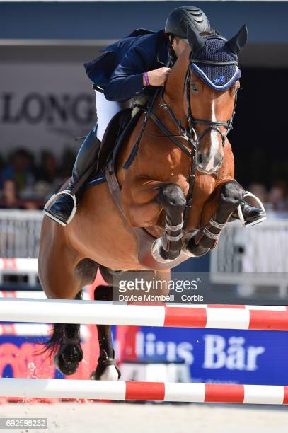 Kamal Abdullah Bahmadan of Saudi Arabia riding Lacasino during the Longines Grand Prix Athina Onassis Horse Show on June 3 2017 in St Tropez France