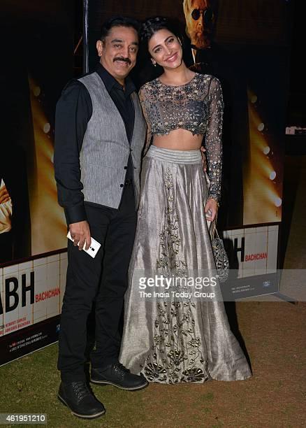 Kamal Haasan and Shruti Haasan at the music launch of Shamitabh and 1000 films celebration of Ilaiyaaraaja music