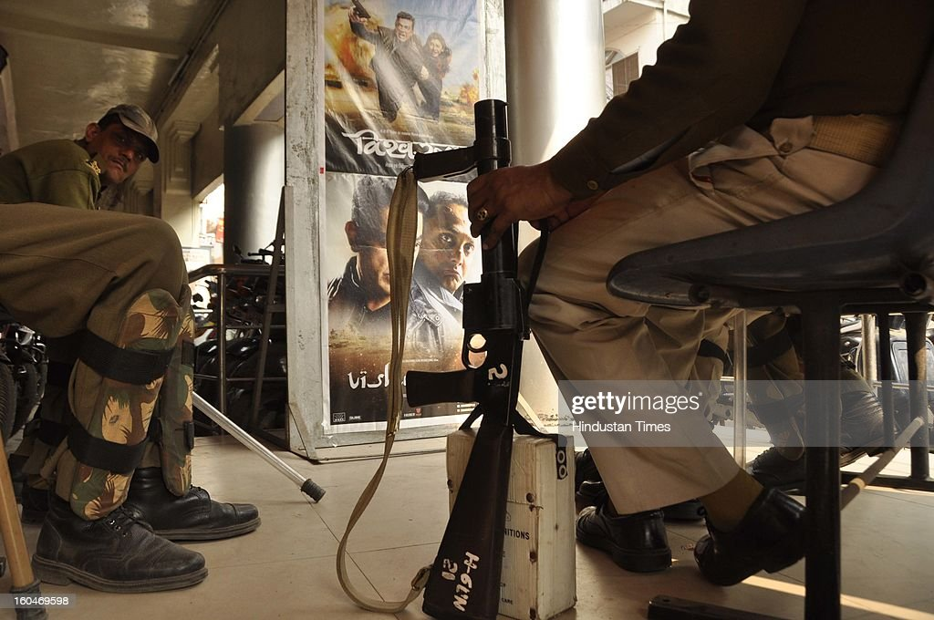Kamal Hassan's controversial movie Vishwaroopam was screened amid tight security in five cinema halls on February 1 2013 in Lucknow India The film...