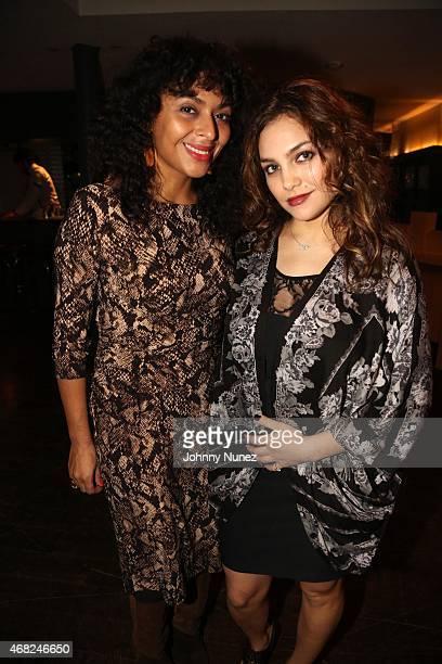 DJ Kamala Jefferson and musician Ada Pasternak attend Nigel Barker's 'Models Of Influence' book release event with Kirkland Ellis at Soho House on...