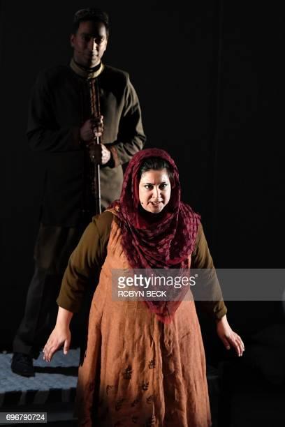 Kamala Sankaram portrays Pakistani human rights activist Mukhtar Mai in the opera 'Thumbprint' at the Roy and Edna Disney/Calarts Theater in Los...