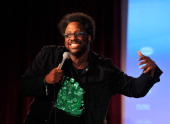 Kamau Bell performs at Vulture Festival Comedy Night at The Bell House on May 11 2014 in New York City