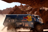 Kamaz driver Dmitry Sotnikov competes during the Stage 6 of the Dakar 2014 between Tucuman and Salta Argentina on January 9 2014 AFP PHOTO / FRANCK...