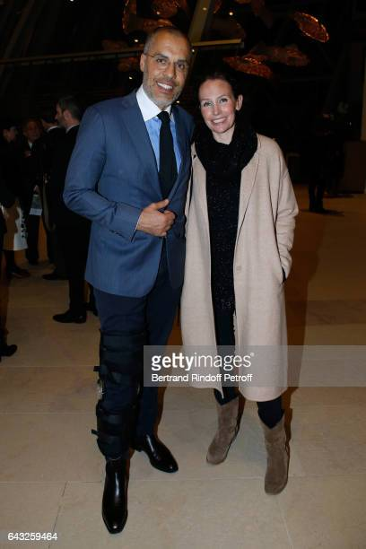 Kamel Mennour and his wife Annika attend the Private View of 'Icones de l'Art Moderne la Collection Chtchoukine' at Fondation Louis Vuitton on...