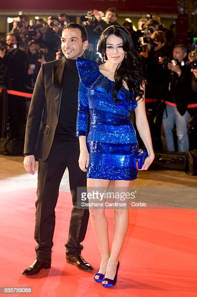 Kamel Ouali and Sofia Essaidi attend the NRJ Music Awards 2010 at Palais des Festivals in Cannes