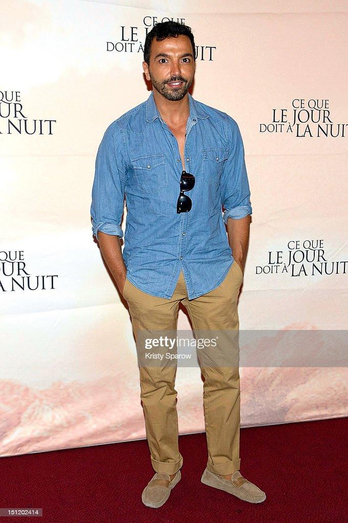 Kamel Ouali attends the 'Ce Que Le Jour Doit A La Nuit' Premiere at the Cinema Gaumont Marignan on September 3 2012 in Paris France