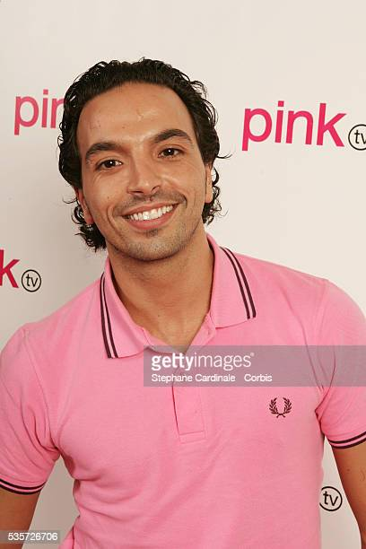 Kamel Ouali in the studio during the launch of France's first gay television channel 'Pink TV'