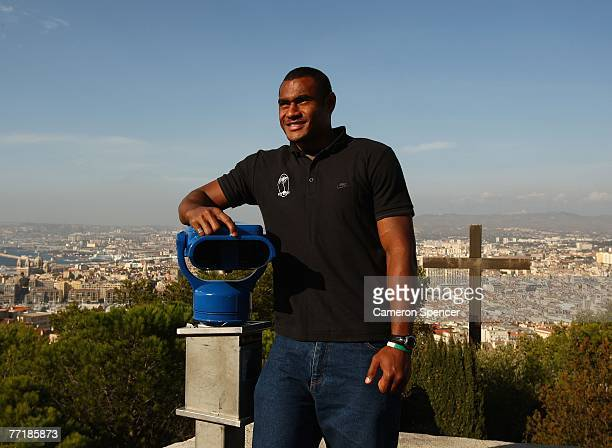Kameli Ratuvou of Fiji takes in the view at the Basilique NotreDame de la Garde on October 4 2007 in Marseille France