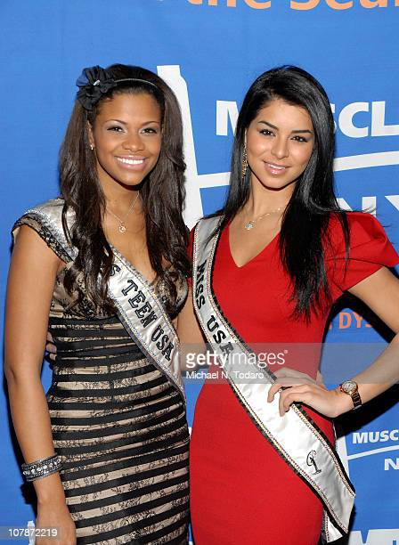Kamie Crawford and Rima Fakih attend the 2011 Muscle Team Gala and Benefit Auction at Pier 60 on January 4 2011 in New York City