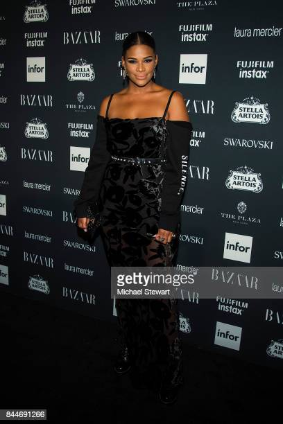 Kamie Crawford attends 2017 Harper's Bazaar Icons at The Plaza Hotel on September 8 2017 in New York City