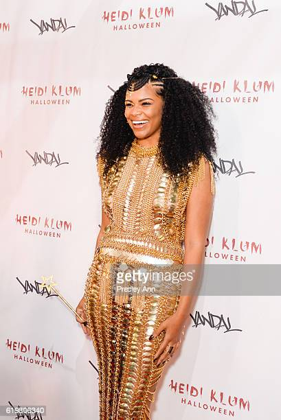 Kamie Crawford attends Heidi Klum's 17th Annual Halloween Party Arrivals at Vandal on October 31 2016 in New York City