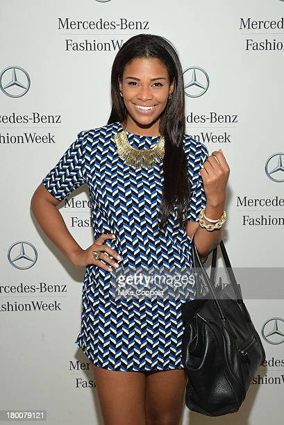 Kamie Crawford attends the MercedesBenz Star Lounge during MercedesBenz Fashion Week Spring 2014 on September 8 2013 in New York City