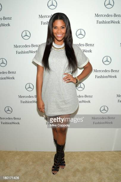 Kamie Crawford attends the MercedesBenz Star Lounge during MercedesBenz Fashion Week Spring 2014 on September 9 2013 in New York City