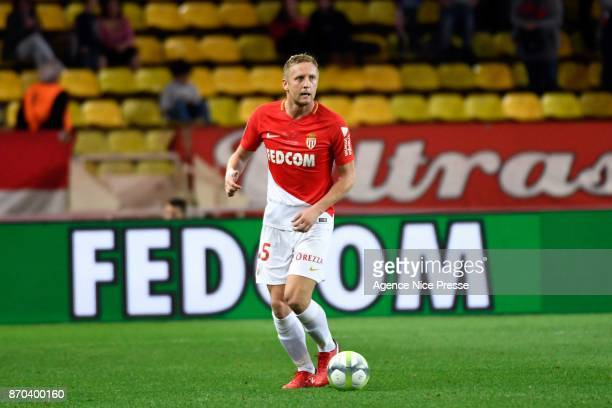Kamil Glik of Monaco during the Ligue 1 match between AS Monaco and EA Guingamp at Stade Louis II on November 4 2017 in Monaco
